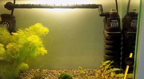 Установка аквариумной флейты с частичным погружением