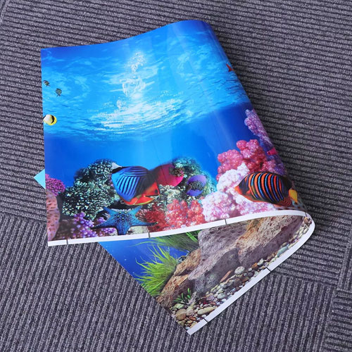 Фон плёнка для аквариума самоклеющийся