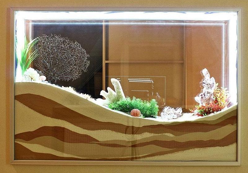 Оформление сухого аквариума