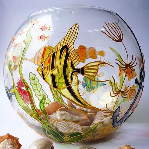 Расписная ваза из аквариума