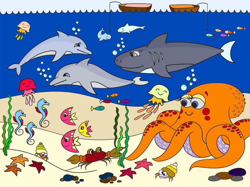 Результат росписи аквариума