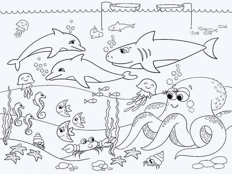 Трафарет для росписи аквариума