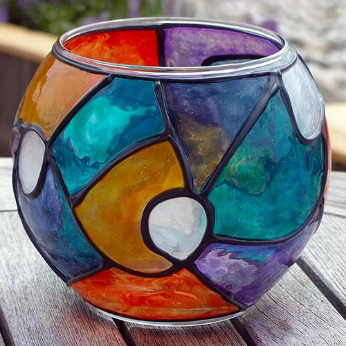 Витражная ваза из аквариума
