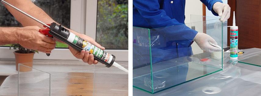 Применение силиконового герметика для аквариумов