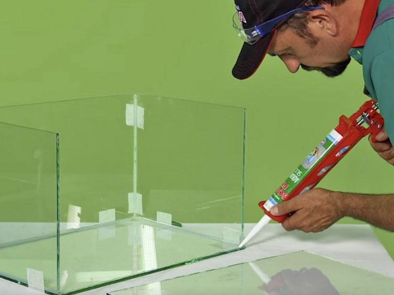 Как правильно заклеить аквариум силиконом