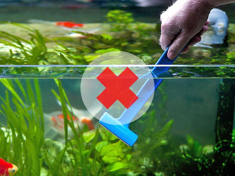 Скребок с лезвиями не для акриловых аквариумов